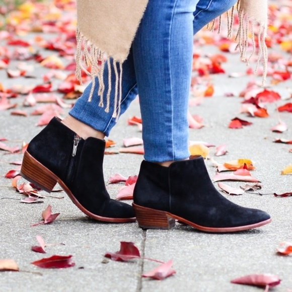 fd26a0ed6 Sam Edelman Petty black suede ankle chelsea boots.  M 5c7ca337c9bf50f2be09ebe6